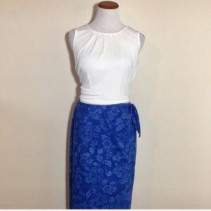 Ralph Lauren wrap maxi skirt